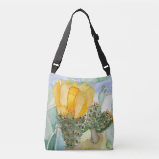 Sam Browne belt with watercolor of bigeye tuna in Crossbody Bag