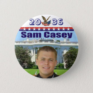Sam Casey in 2036 2 Inch Round Button