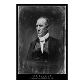 Sam Houston Portrait Poster