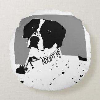 SAM-Rescue Me Dog Blanket Round Pillow