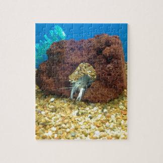 Sam the blue lobster crayfish jigsaw puzzle