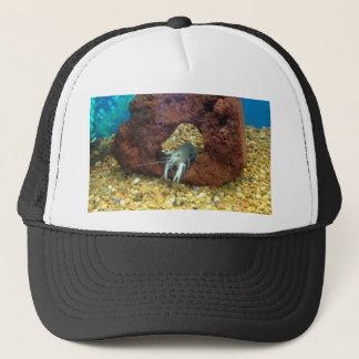 Sam the blue lobster crayfish trucker hat