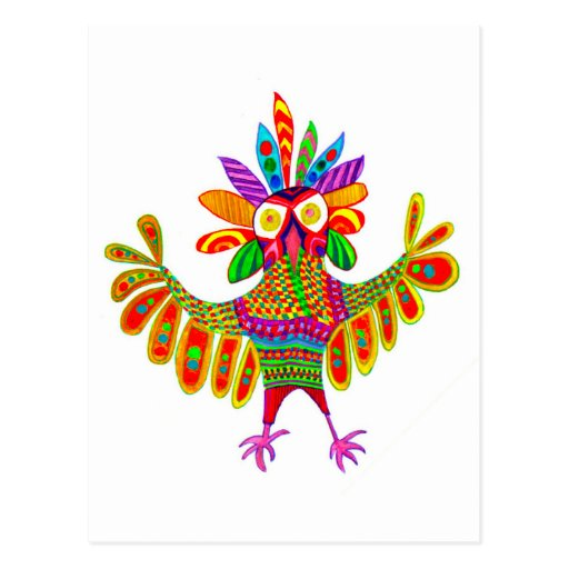 Sam the Mardi Gras Owl Post Card