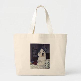 Sam the Sheepdog Large Tote Bag