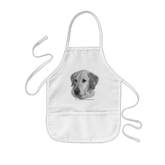Sam, Yellow Labrador Retriever Kids Apron