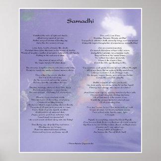 Samadhi poem by Yogananda Poster