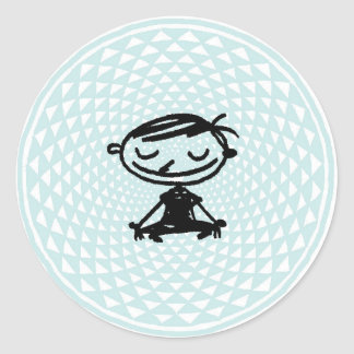 samadhi round sticker