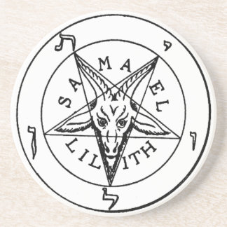 Samael Lilith Goat Pentagram Coaster