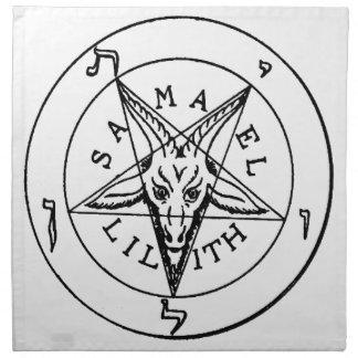 Samael Lilith Goat Pentagram Napkin