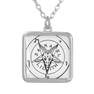 Samael Lilith Goat Pentagram Silver Plated Necklace