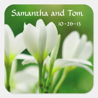 Samantha and Tom Square Sticker