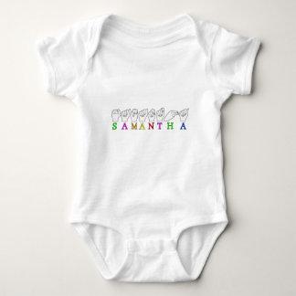 SAMANTHA ASL FINGERSPELLED NAME SIGN BABY BODYSUIT