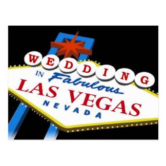 Samantha & Gary 2010 Las Vegas WEDDING Postcard
