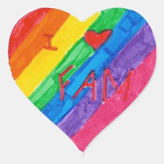 Samantha: Heart Sticker