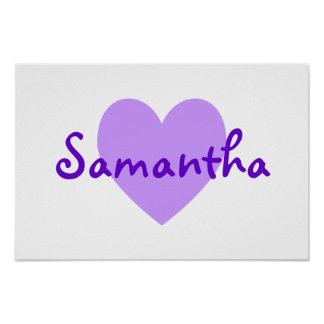 Samantha in Purple Poster