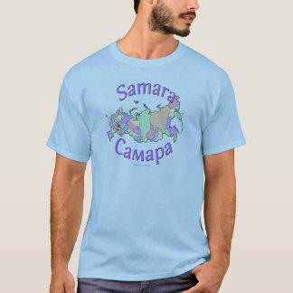 Samara City Russia Map T-Shirt