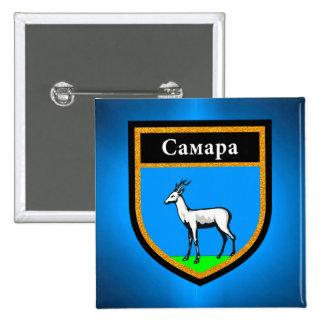Samara Flag 2 Inch Square Button