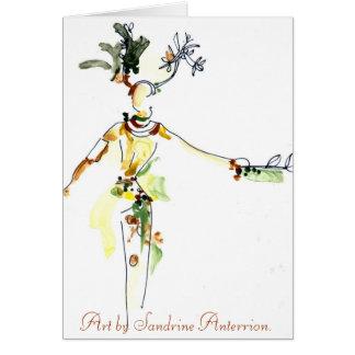 Samba character by Sandrine Anterrion Card