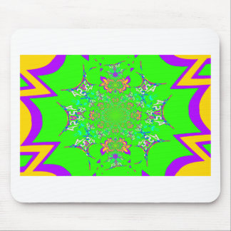 Samba Colorful Bright floral damask design colors Mouse Pad