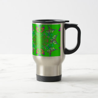 Samba Colorful Bright floral damask design colors Travel Mug