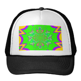 Samba Colorful Bright floral damask design colors Trucker Hat
