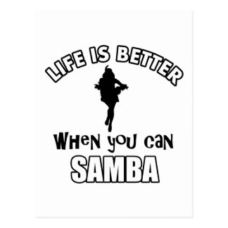 samba Dance Designs Postcard