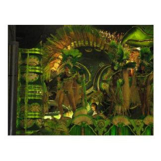Samba dancers at Carnaval in Rio Postcard