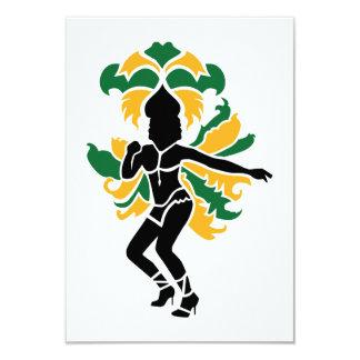 Samba dancing card