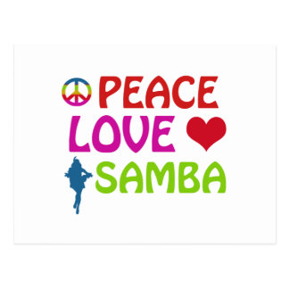 Samba dancing designs postcard