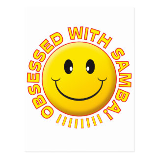 Samba Obsessed Smile Postcard