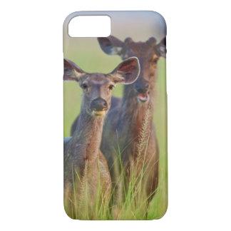 Sambar Deers in the meadows, Corbett National Park iPhone 7 Case