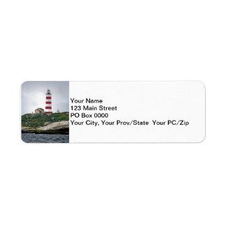 Sambro Island Lighthouse Return Address Label
