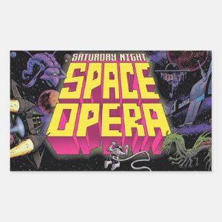 Samedi soir autocollants d'opéra de l'espace !