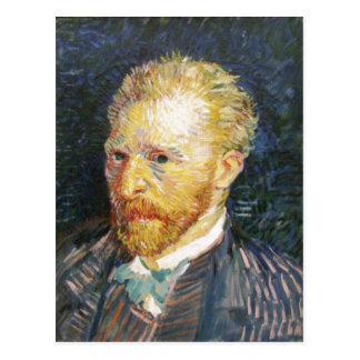 Samenvatting Description Self-Portrait by Vincent  Postcard
