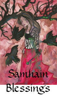 Samhain blessings cards zazzle ca samhain blessings raven witch greeting cards m4hsunfo