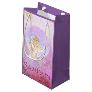 Samhain Greetings Lunar Goddess Small Gift Bag