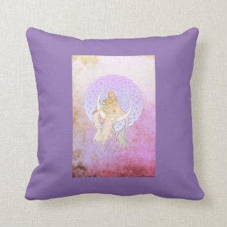 Samhain Greetings Lunar Goddess Throw Pillow