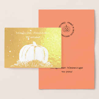 Samhain Pumpkin Night Foil Card