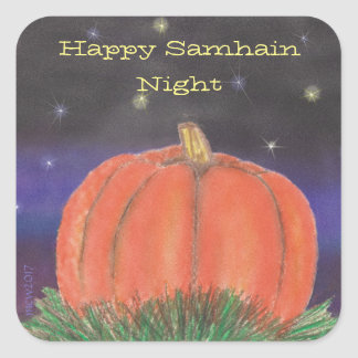 Samhain Pumpkin Night Square Sticker