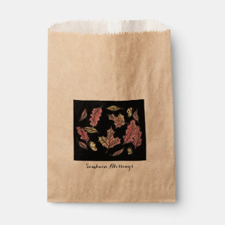Samhain Swirling Leaves Witch Wiccan Pagan Favour Bag