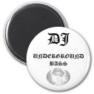 SamixMusic, DJ, UNDERGROUND BASS 2 Inch Round Magnet