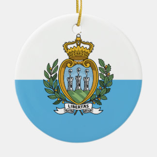 Sammarinese flag Ornament