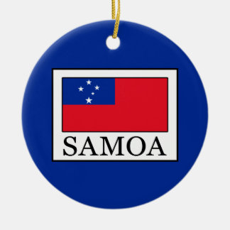 Samoa Ceramic Ornament