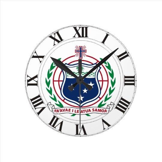 Samoa Coat of Arms Wallclock