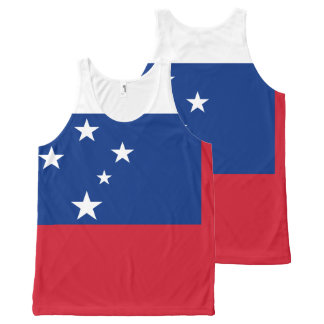 Samoa Flag All-Over-Print Tank Top
