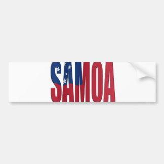 Samoa flag bumper sticker