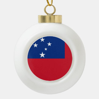 Samoa Flag Ceramic Ball Christmas Ornament
