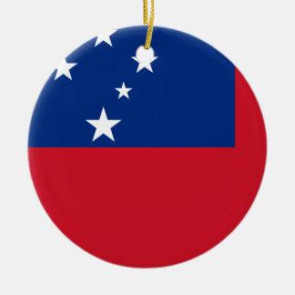 Samoa Flag Ceramic Ornament