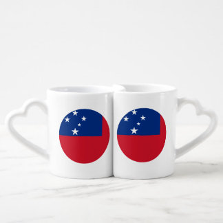 Samoa Flag Coffee Mug Set