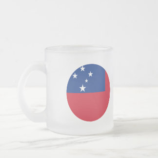Samoa Flag Frosted Glass Coffee Mug